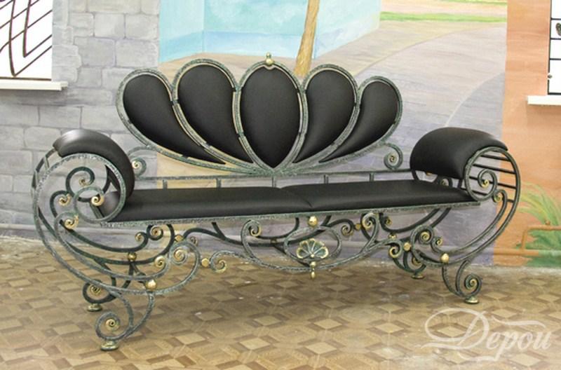 Кованые диванчики своими руками фото