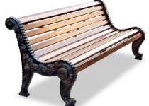 """Чугунная скамейка """"Городская роща"""""""